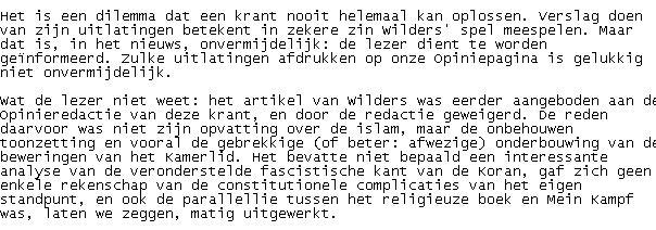 The Max Pam Globe Ik Wil Zelf Bepalen Of Wilders Niet Goed